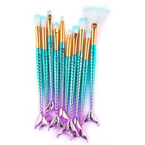 10pcs Colorful Pro Makeup Brushes Set Powder Foundation Eyeshadow Brush Tool New