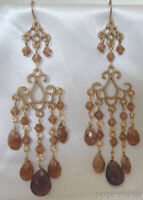 Vintage Style Gold Tone Chandelier Light Weight Dangle Drop Earrings
