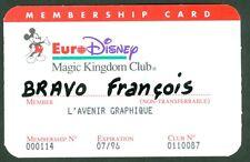 PASSEPORT DISNEYLAND PARIS PASS  MAGIC KINGDON CLUB ETAT 10/10  N°103