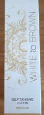 White to Brown self tanning lotion. Medium. New