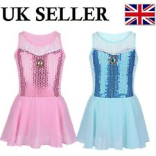 UK Girls Sequined Ballet Dance Tutu Dress Children Princess Performing Costumes