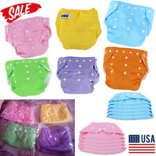 Lots 5pcs Baby Diapers Adjustable Reusable Washable Cloth Pocket Nappies USA