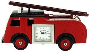 Miniatura Rosso Fuoco Motore Camion Ornamento Novità Collezionisti Orologio 9860