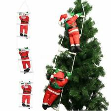 20cm Santa Climbing on Rope Ladder Outdoor Christmas Garden Decoration