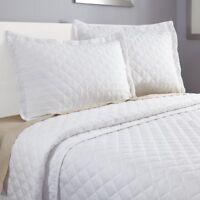3 Piece Quilt Set Bedspread Coverlet by Clara Clark - Set includes Quilt & Shams
