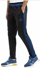 Adidas Tiro 15 Training pants Black/Equatic Blue Joggers, Medium Jogging Bottoms