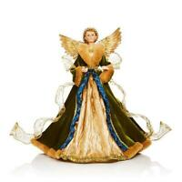 """Bloomingdale's Gilded Angel Tree Topper Christmas / Holiday Decor 19"""" H"""