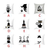 Cartoon 3D Cat Home Decor Throw Pillow Case Cotton Linen Sofa Cushion Cover HOT
