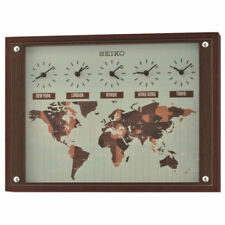 Sveglie e radiosveglie analogici marca Seiko marrone