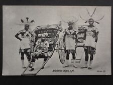 South Africa FOUR RICKSHA BOYS & RICKSHA - Old Postcard, Bill Hopkns Collection