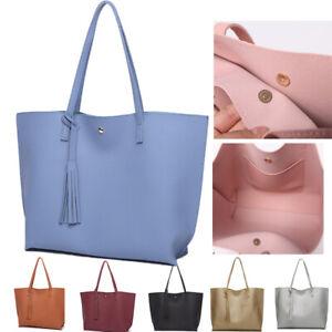 Women Designer Shoulder Bag Tote Large Handbag Office Lady Messenger PU Leather