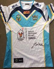 Gold Coast Titans  player Worn  Signed James Roberts  jersey Brisbane Broncos
