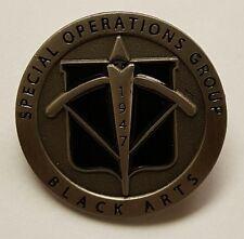 "CIA NCS / DO SAD SOG Special Operations Group Black Arts 1947 Lapel / Hat Pin 1"""
