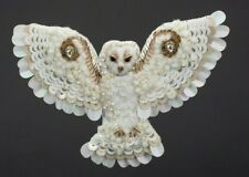 Barn Owl Brooch Big Owl Jewelry Beaded Pin Hand Embroidered Brooch Harry Potter