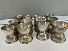 Set of 12 Vintage Epns Egg Cup by J Lyons & Co