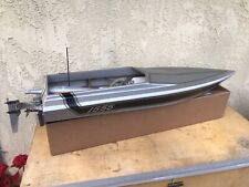 Vintage 40� Deep Vee Rc Boat With K&B 7.5 Nitro Motor Prather? Dumas?