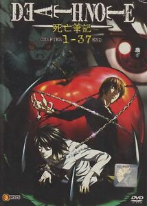 DVD Death Note Chapter 1-37 End With English Dubbed Japanese Animation TV Series