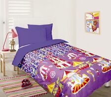 Girl's BLUE FUN AT FAIR Carousel Glow In The Dark DOUBLE Quilt Doona Cover Set
