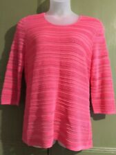 """Windsmoor Uk M 42""""B Lined Stretch Casual 3/4 Sleeve Casual Smart Easywear Top"""