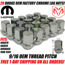 20 DODGE OEM LUG NUTS 9/16-18 | RAM 1500, DURANGO, DAKOTA, RAIDER, FACTORY LUGS