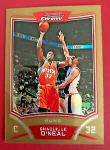 2008-09 BOWMAN CHROME GOLD REFRACTOR 44/50 Shaquille O'Neal