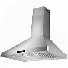 "30"" Range Hood Wall Mount Stainless Steel Kitchen Stove Vent Led Touch Control"