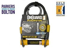 Magnum OnGuard Bulldog 8012 Shackle Lock+Cable Silver Sold Secure Bike D U Lock