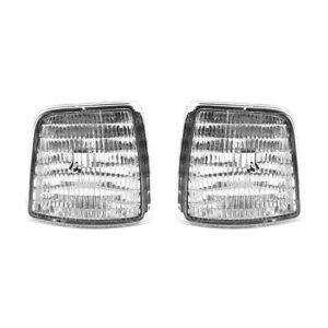 NEW FRONT SIDE MARKER LIGHT PAIR FITS FORD F-150 F2TZ-15A201-D F2TZ15A201C