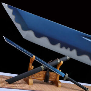 Combat Ready 9260 Spring Steel Tang Dao Blue Blade Chinese Sword Sharp Sabre