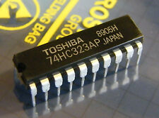 3x TC74HC323AP 8-Bit Bidirectional Shift Register with Parallel I/O, Toshiba