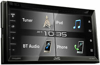 "JVC KW-V340BT BT DVD CD USB WVGA Receiver with 6.8"" Touch Screen Open Box"