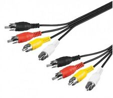 AUDIO-VIDEO 1,5m 4-FACH CINCH-KABEL CHINCH-STECKER NEU