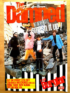 RARE PUNK - THE DAMNED SMASH IT UP 1979 CHISWICK/EMI SMALL PROMO POSTER GENUINE