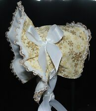New Handmade Gold Snowflakes Christmas Bonnet