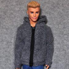 Barbie Ken Doll Fashion Clothes Gray Coat Jacket For KEN Dolls