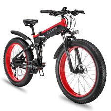 """Cyrusher Electric Bike Fat Tire Folding Bike XF690 1000W 48V 12.8AH 26"""" Fat Bike"""