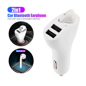 USB Car Charger Bluetooth Headset 2 in 1 Wireless Smart Outdoor Sports Headset
