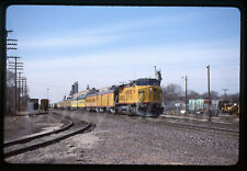 Original Slide Very Nice Union Pacific UP C40-8W 9417 on Passenger Special