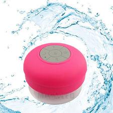 Wireless Bluetooth Handsfree Waterproof Mic Suction Mini Speaker Shower Car