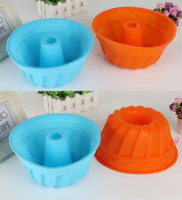 Large Bundt Cake Pan Bread Chocolate Bakeware Silicone Pumpkin Mould