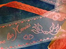 rose s ,dentelles coton et ruban déco pour les mariés
