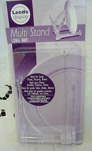 Long arm multi display stand (clear) ideal for large plates, pictures, books
