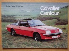CRAYFORD Vauxhall Cavalier Centaur Convertible brochure 1978 - Magraw Engineerin