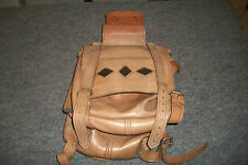Vintage 2 Tone Tan Cowboy or Motorcycle Saddlebags