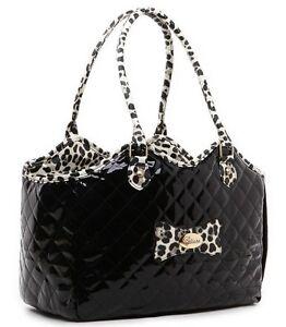 Petcare Dog Cat Bag Carrier Tote Handbag Black 38x19x30cm