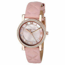 Michael Kors Women's MK2683 Stainless Steel Watch with Pink Leather Strap