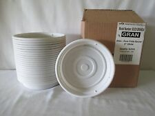 """*24* NEW HEAVY DUTY FLOWER POT SAUCERS BASES PLATES FITS 8"""" PLANTER GRANITE USA"""