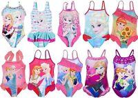 Girls Children Disney Frozen Swimsuit Swimming Costume Swimwear age 4-10 years