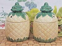 VTG NOS Pineapple Tiki Mug Lidded Set of 2 BOXED