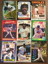 (41) Eddie Murray Baseball Card Investment Lot All Pictured Big BV$ Hall of Fame